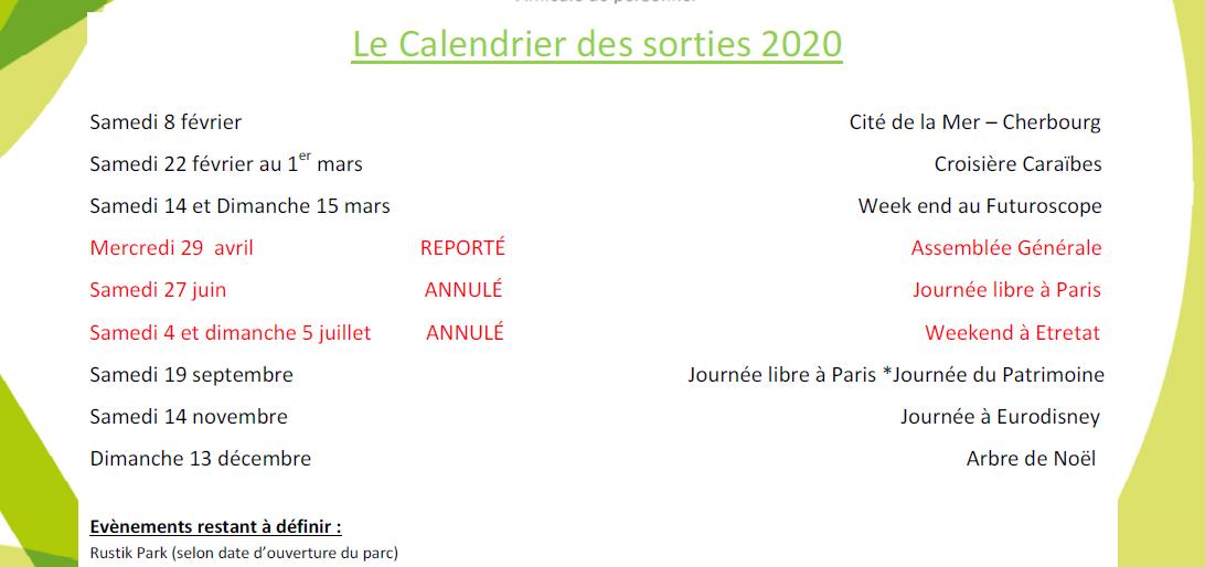 Permalien vers:Le calendrier des sorties 2020